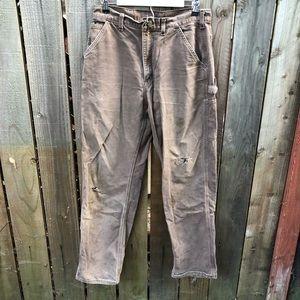 Carhartt Brown Mens Work Wear Pants